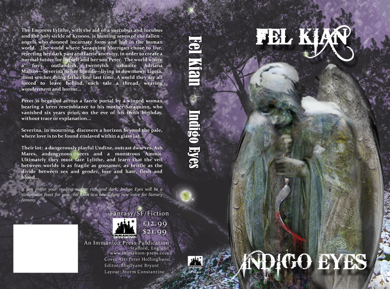 Cover for 'Indigo Eyes' by Fel Kian, Immanion Press