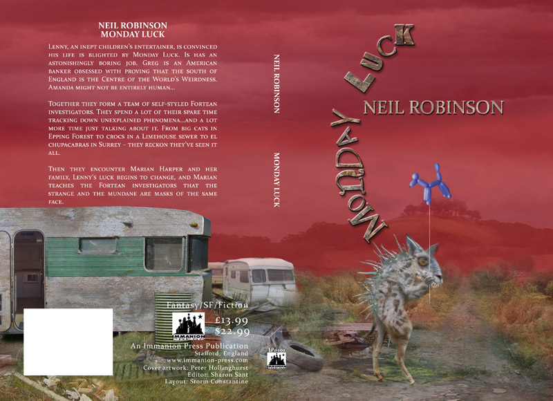 Cover for 'Monday Luck' by Neil Robinson , Immanion Press